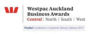 Westpac Auckland Business Awards 2017 FINALIST LOGO - Finalist Excellence in Customer Service Delivery 2017